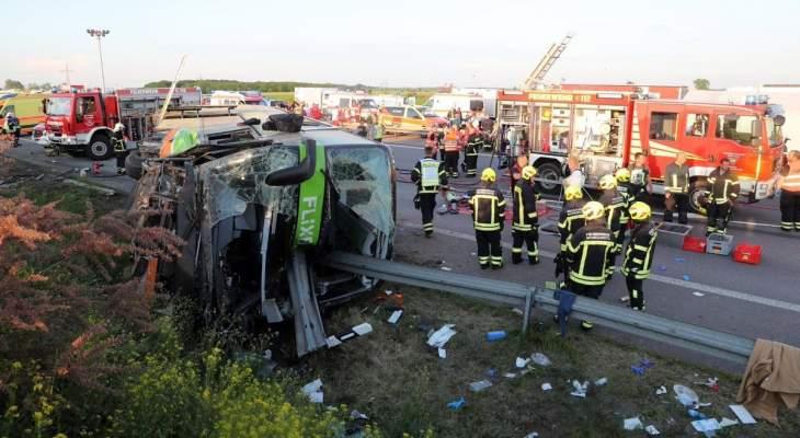 قتيل وأكثر من 60 جريحا بحادث حافلة قرب لايبزيغ في ألمانيا