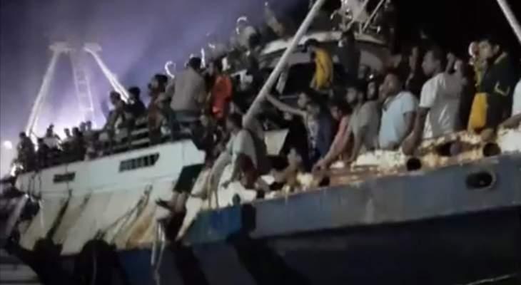 وصول أكثر من 500 مهاجر إلى جزيرة لامبيدوزا الإيطالية في البحر المتوسط