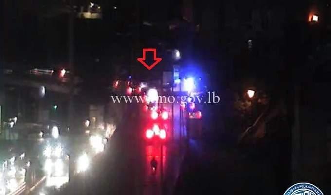 جريحان نتيجة حادث صدم آخر جسر برج حمود باتجاه الاشرفية