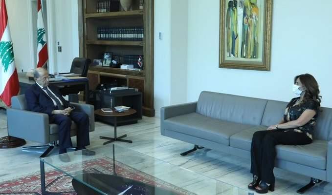 الرئيس عون بحث مع عكر موضوع استئناف مفاوضات ترسيم الحدود البحرية