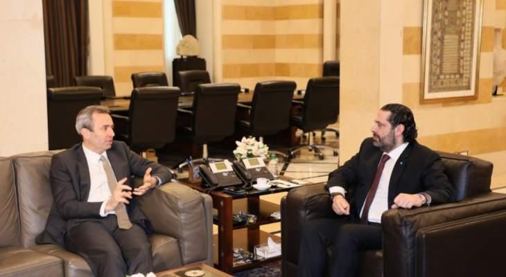 رامبلينغ بعد لقائه الحريري: المجتمع الدولي يتطلع لإصلاح قطاع الكهرباء