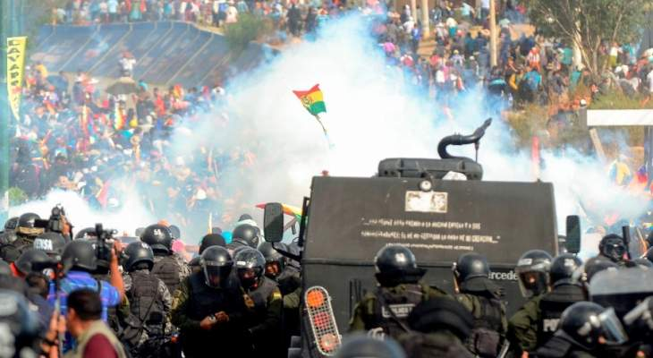 ارتفاع عدد الضحايا جراء الاشتباكات في بوليفيا إلى 9 أشخاص