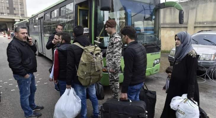النشرة: دفعة من النازحين السوريين وصلت إلى معبر الزمراني من لبنان