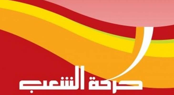 حركة الشعب: تحويل البوصلة إلى مصرف لبنان وحكم المصارف أزعج السلطة الحاكمة