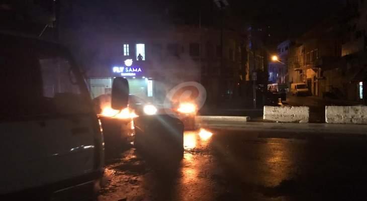النشرة: قطع شارع رياض الصلح الرئيسي وسط مدينة صيدا