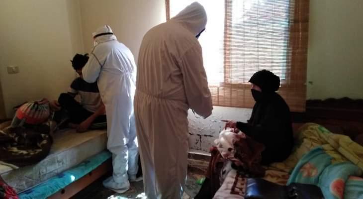 """متطوعو الهيئة الصحية الإسلامية بحزب الله واصلوا حملة """"نحنا ببيتك"""" بصيدا"""