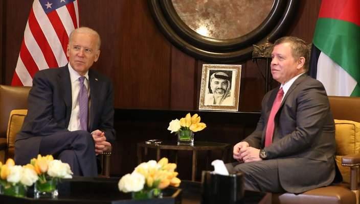 الديوان الملكي الأردني: ملك البلاد تلقى اتصالا من الرئيس الأميركي
