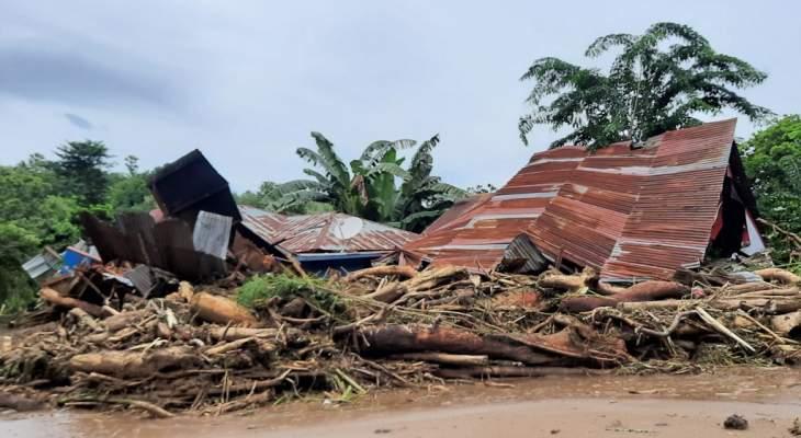 المركز الإندونيسي لإدارة الكوارث: أكثر من 150 قتيلا بفيضانات في إندونيسيا وتيمور الشرقية