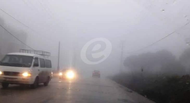 النشرة: تساقط غزير للأمطار في حاصبيا منذ ليل أمس وتشكُل مستنقعات في الطرق