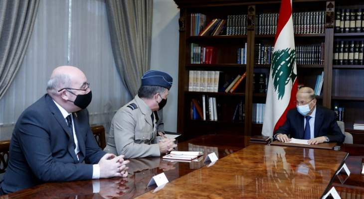 الرئيس عون استقبل كبير مستشاري الدفاع لمنطقة الشرق الأوسط لدى القيادة البريطانية