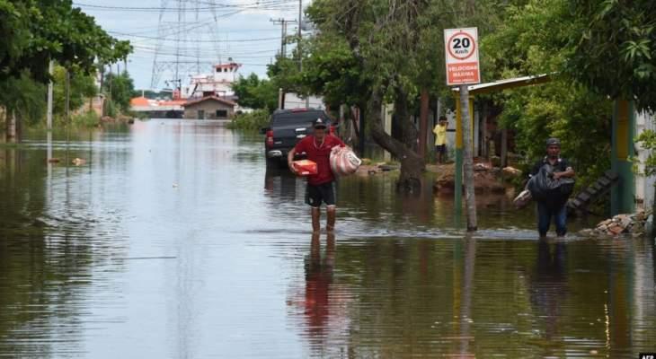 تشرّد 70 الف عائلة في الباراغواي جراء فيضانات هائلة
