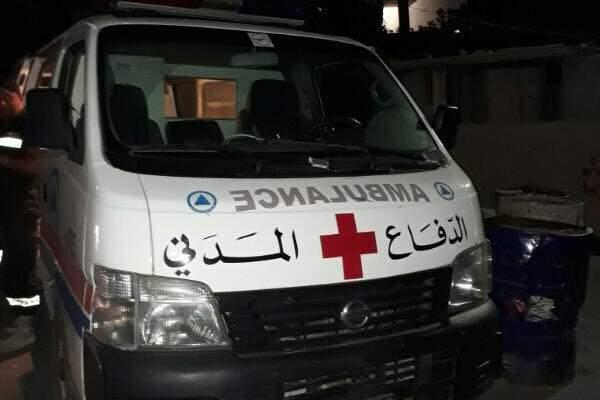 الدفاع المدني: جريح جراء حادث صدم في الشحيم-الشوف