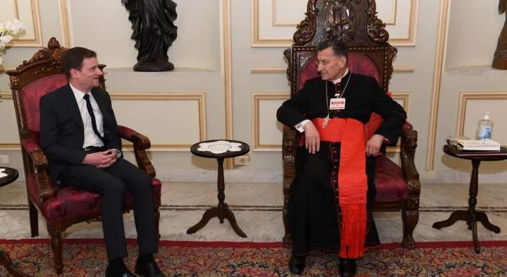 الراعي التقى هيل: لضرورة ألا تأتي الحلول بنتيجة المفاوضات في المنطقة على حساب لبنان
