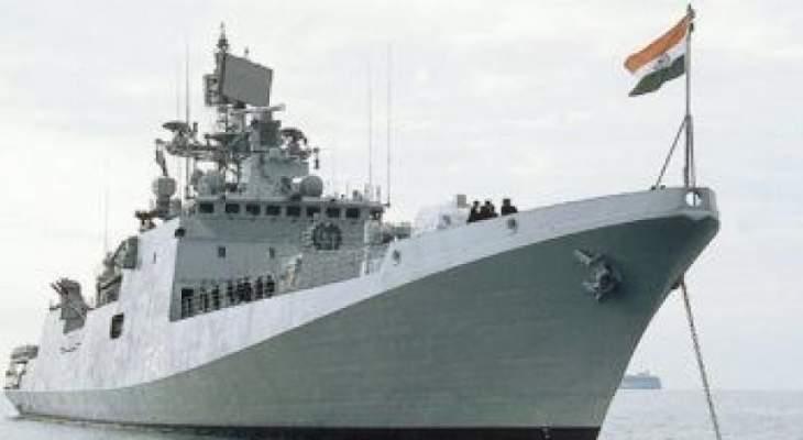 البحرية الهندية تعلن إرسال سفينتين حربيتين إلى الخليج لتأمين الملاحة