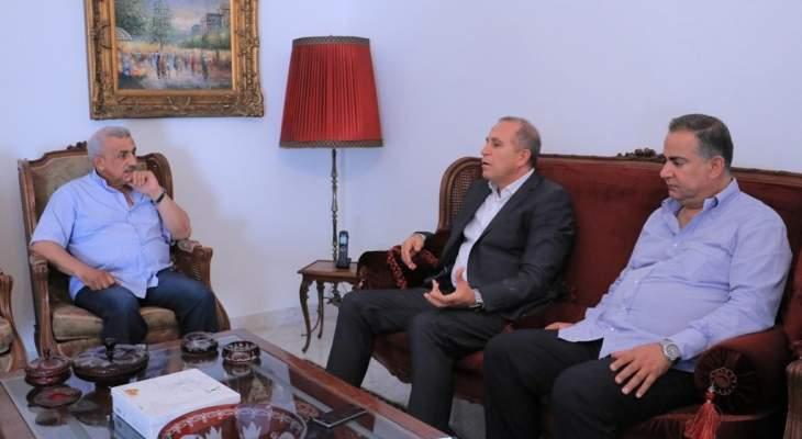 أسامة سعد التقى مسؤول مخابرات الجيش بالجنوب وأكدا دور القوى العسكرية بحفظ الأمن