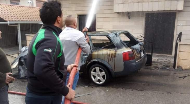 النشرة: اخماد حريق شب داخل سيارة في بلدة الفرزل