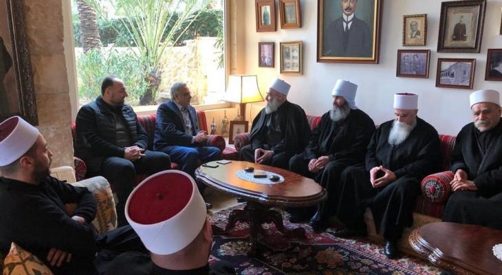 أرسلان عرض أوضاع الدروز في سوريا مع وفد من المشايخ