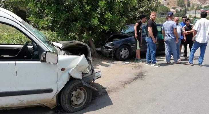 النشرة: إصابة 6 أشخاص نتيجة حادث سير على طريق الميذنة- كفررمان