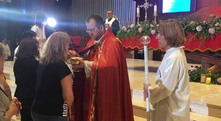افتتاح تساعية الصلاة مع مريم من أجل لبنان في دير مار الياس - أنطلياس