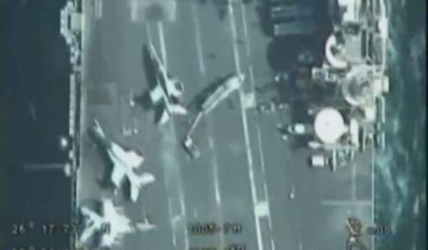 طائرات مسيرة ايرانية حلقت فوق حاملة طائرات أميركية في الخليج الفارسي