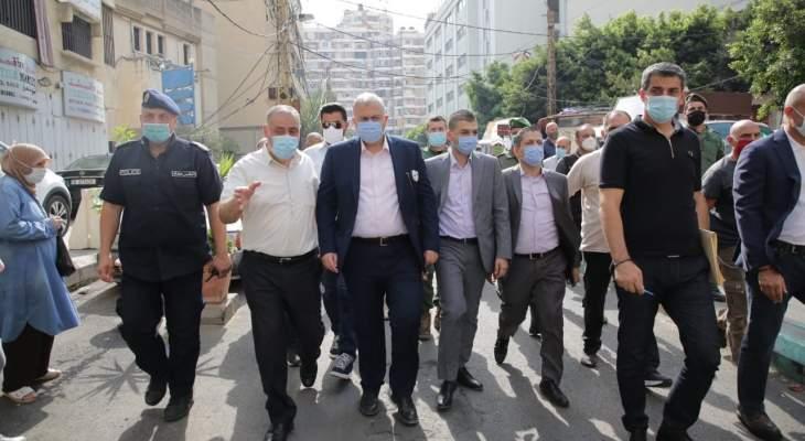 عبود والخليل زارا المناطق بين بلديتي بيروت والغبيري وعرضا ملف النفايات
