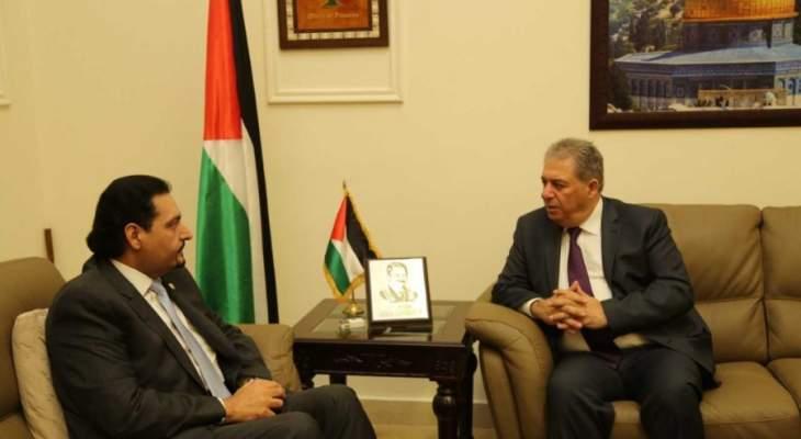 دبور التقى السفير القطري وسفيرة الدنمارك في لبنان