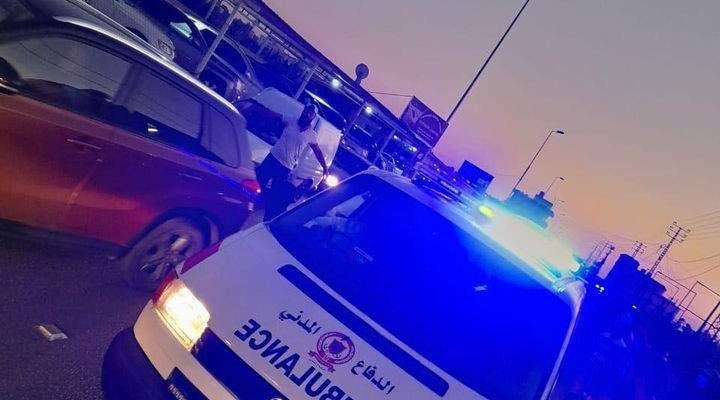 الدفاع المدني: جريحان جراء حادث سير على طريق عام البرغليه
