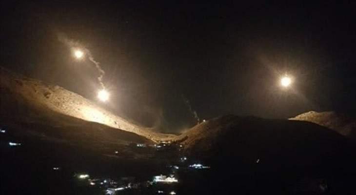 الجيش الاسرائيلي ألقى قنابل مضيئة فوق كروم الشراقي تسببت باندلاع حريق