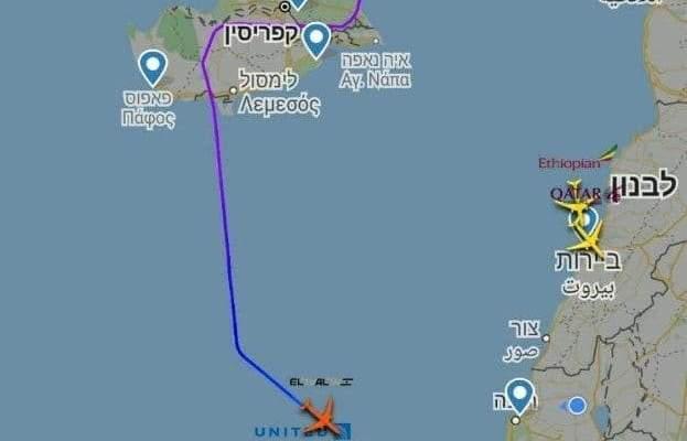 طائرة ركاب إسرائيلية غيرت مسارها بسبب غارات على سوريا