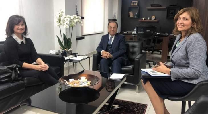 بطيش شدد لسفيرة تشيكيا على أهمية التعادل في الميزان التجاري بين بيروت وبراغ