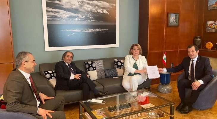 سفير لبنان في فرنسا استقبل وفدا من التجمع اللبناني ومجموعة عدل