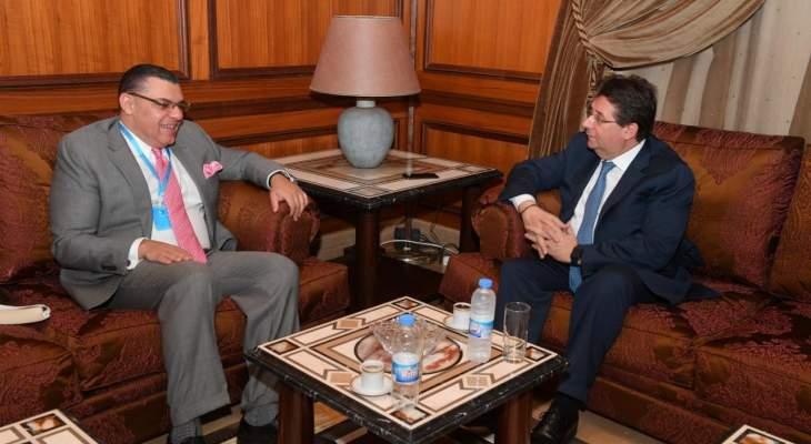 كنعان التقى السفير المصري وعرض معه الوضعين المالي والاقتصادي
