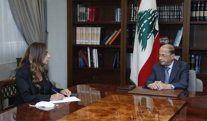 الرئيس عون عرض مع عكر الصعوبات التي تواجه النقل بين لبنان وسوريا
