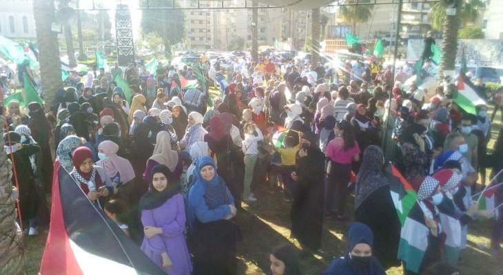 النشرة: مسيرة لحركة حماس والجماعة الإسلامية بصيدا رفضا للعدوان الإسرائيلي على غزة