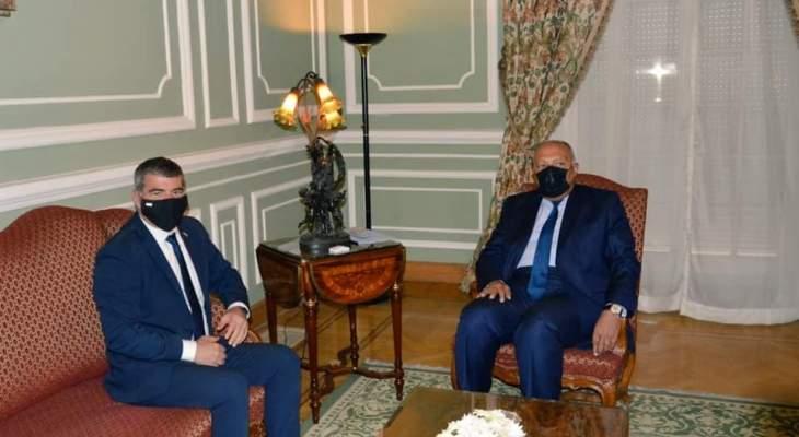 شكري التقى أشكنازي ودعا لتوفير الظروف اللازمة لإطلاق مفاوضات جادة بين إسرائيل والفلسطينيين