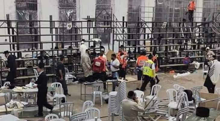 الإسعاف الإسرائيلي: 54 إصابة بينهم 8 بحالة خطرة بسبب انهيار مدرج بكنيس في غفعات زئيف