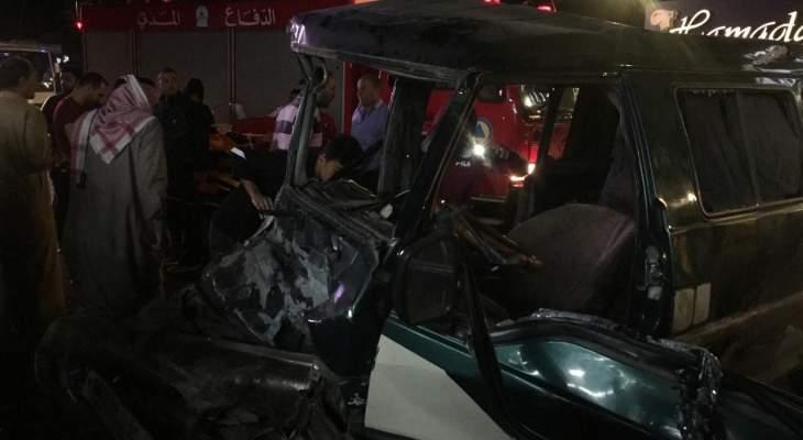 النشرة: إصابة شخصين بحادث سير عند مفرق عنجر