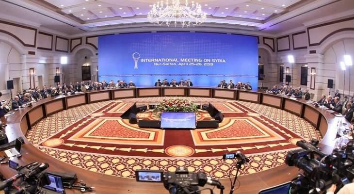 سبوتنيك: الجولة الجديدة من مباحثات أستانا حول سوريا لن تعقد في أيار