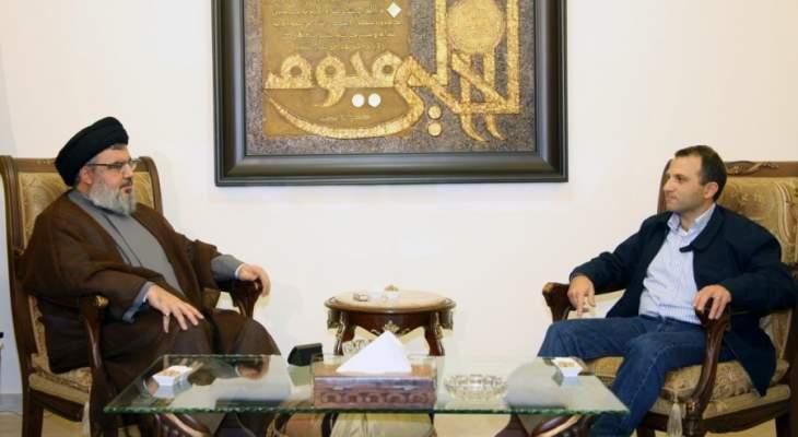 """تواصل بين """"حزب الله"""" و""""التيار"""" بعد إطلالتي باسيل ونصرالله: تأكيد التحالف"""
