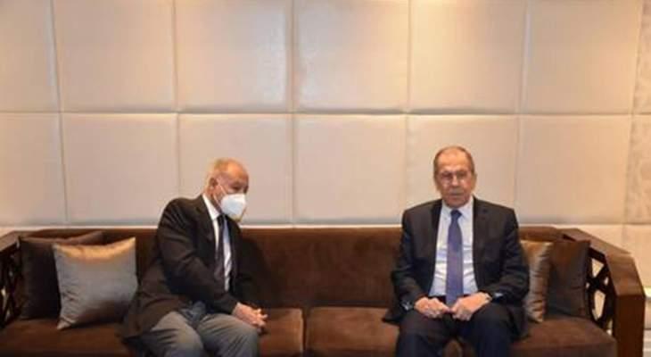 أبو الغيط ولافروف بحثا السلام في الشرق الأوسط والأوضاع الإقليمية