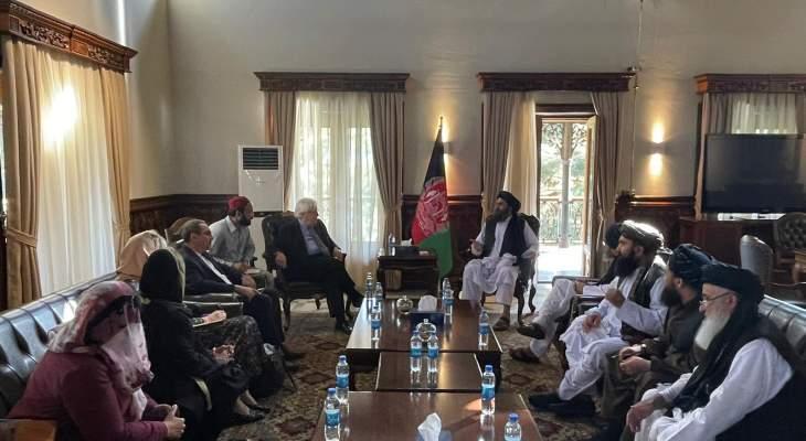 """""""طالبان"""": غريفيث وعد من كابول بمواصلة تقديم المساعدات الإنسانية للشعب الأفغاني"""