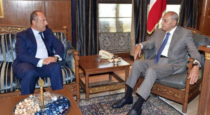 بري يستقبل السفير الروسي ويبحث موضوع الاسكان مع الوزير ابو عاصي