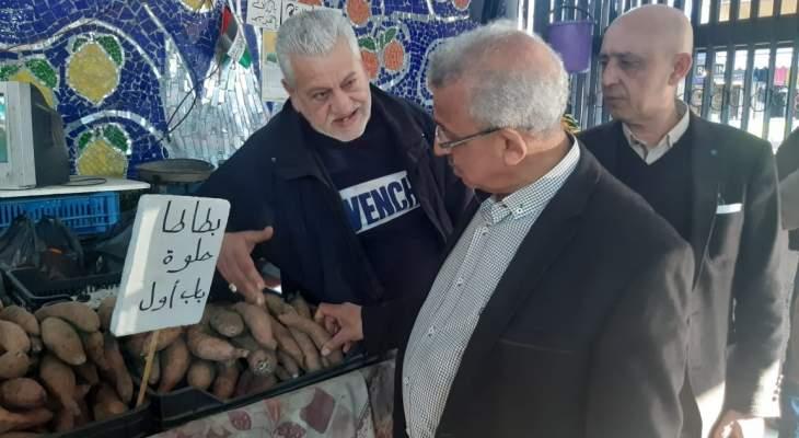 سعد يجول في السوق التجاري بصيدا واطلع على أوضاعه الكارثية