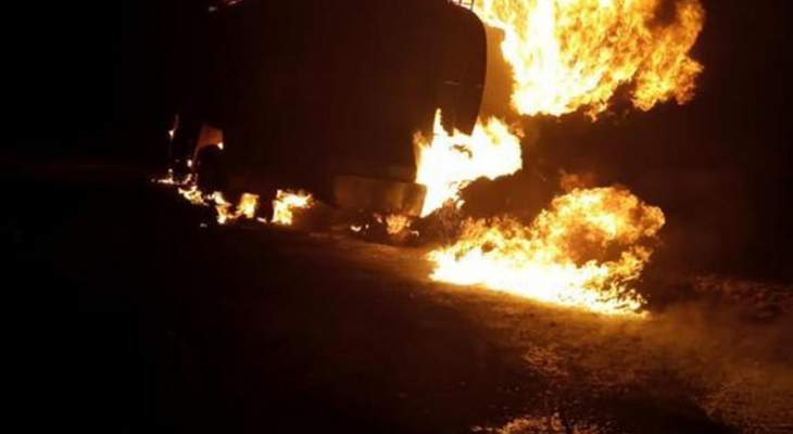 الدفاع المدني: الدفاع المدني أخمد حريقا شب بصهريج محروقات في شعث