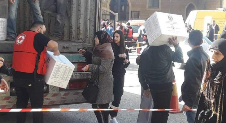 الهلال الاحمر الاماراتي وزع مساعدات غذائية على النازحين السوريين بحاصبيا