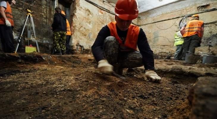 العثور على قطع أثرية في وسط موسكو