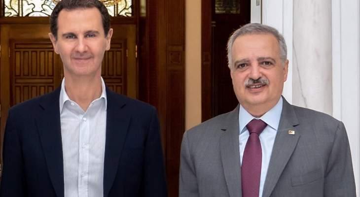 أرسلان التقى الأسد بدمشق مهنئا: بدأنا نشهد عودة دول العالم الى سوريا