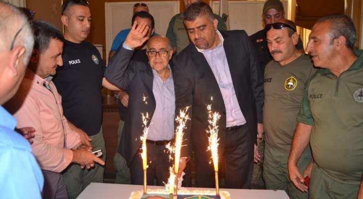 يمق التقى شرطة بلدية طرابلس والمشاركين في الملتقى الكشفي الرابع للاعلامي الصغير