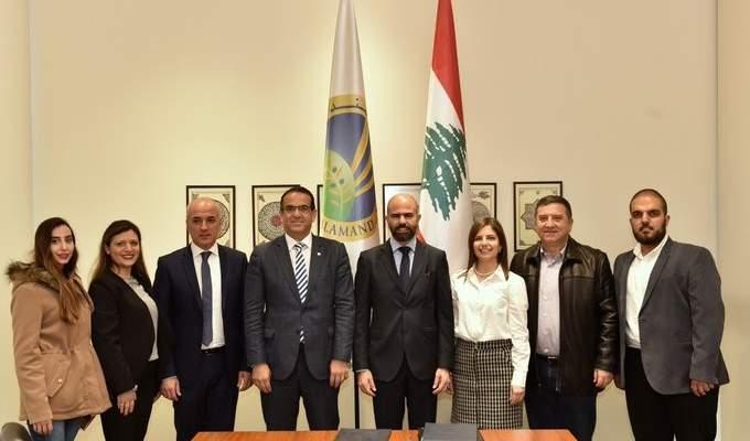 """توقيع اتفاقية تعاون بين شركة """"اندفكو"""" وجامعة البلمند لتبادل الخبرات"""
