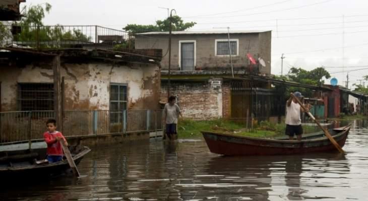 20 ألف عائلة منكوبة جراء الأمطار الغزيرة والفيضانات في الباراغواي